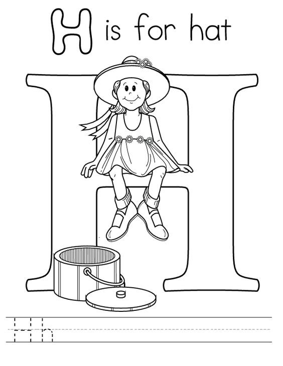 Letter H Is For Hat Coloring Page Find Coloring Abc Coloring Pages Abc Coloring Coloring Pages For Kids