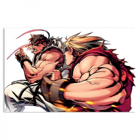 Placa Ryu vs Ken Super Turbo Revival