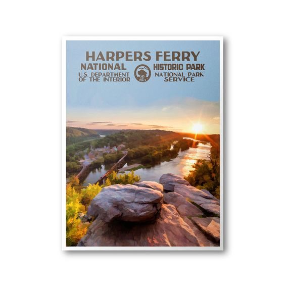 Harpers Ferry National Historic Park Travel Poster & Postcard