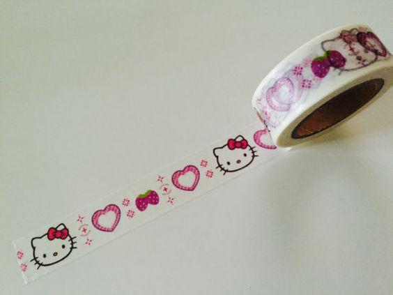 Pink Kittie Cat Washi Tape by GoatGirlMH on Etsy