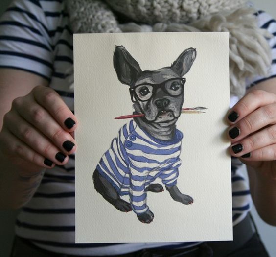hipster french bulldog