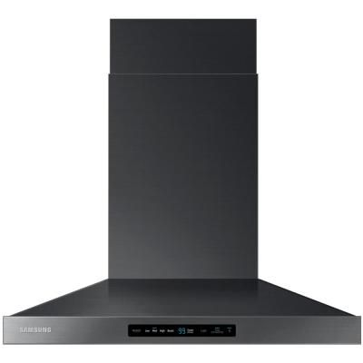 Samsung 30 In Wall Mount Range Hood Touch Controls Bluetooth Connected Led Lighting In Fingerprint Resistant Black Stainless Nk30k7000wg The Home Depot In 2021 Wall Mount Range Hood Range Hood Black Stainless Steel