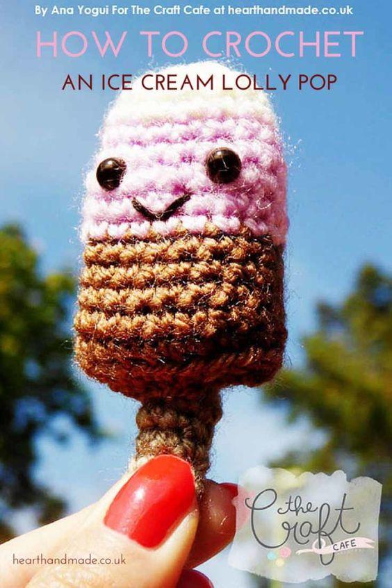 Amigurumi Ice Cream Tutorial : Popsicles, Patterns and Cream on Pinterest