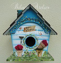 CASINHAS DE PASSARINHO (BILUCA ATELIER) Tags: mdf birdhouses pinturacountry casinhadepassarinho homebirds biluca casinhamdf