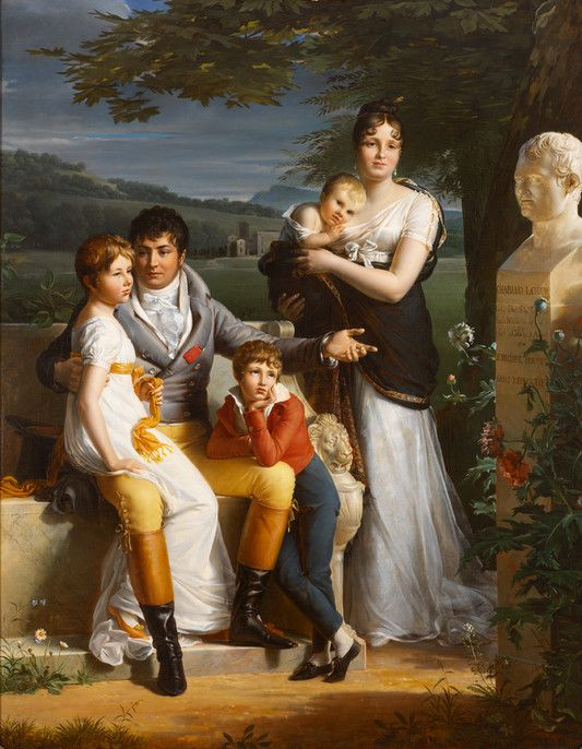 RISD Museum: Jacques-Luc Barbier-Walbonne, French, 1769-1860. Portrait of Antoine-Georges-Francois de Chabaud-Latour and his Family, 1806. Oil on canvas. 221 x 174 cm (87 x 68 1/2 inches). Helen M. Danforth Acquisition Fund 2003.105