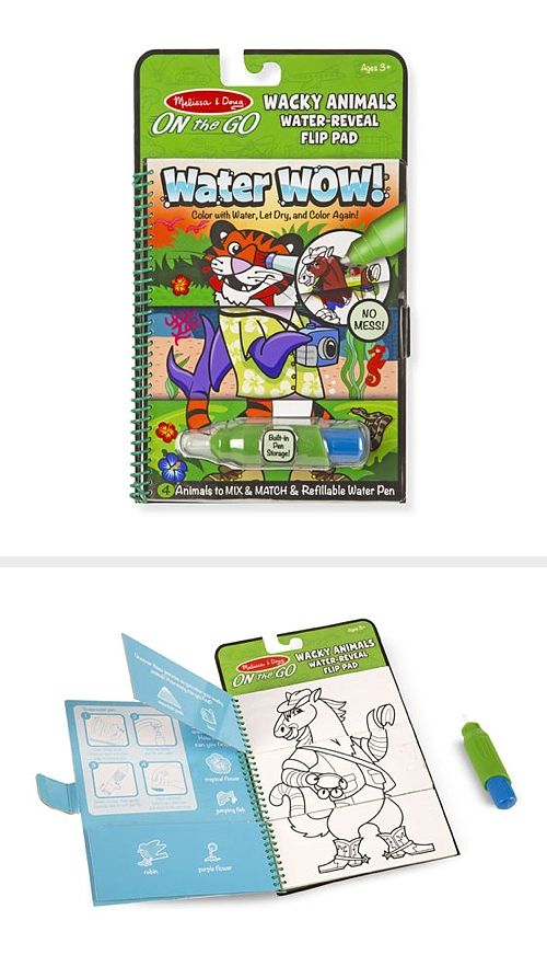Water Wow Wacky Animals Water Reveal Flip Pad On The Go Travel Activity No Mess Painti Travel Activities Stocking Stuffers For Kids Easy Stocking Stuffer