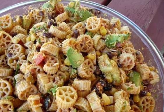 Christine's Cuisine: Wagon Wheel Taco Pasta Salad