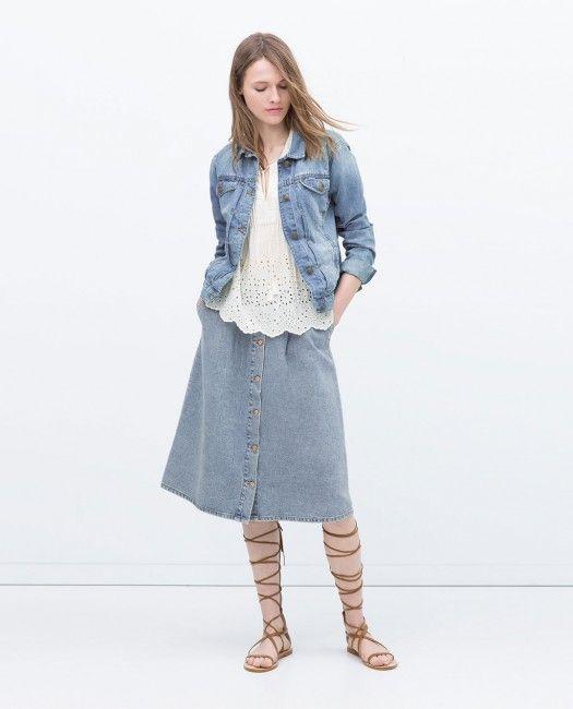 Zara Denim Kot Ceket Modeli Kadinlive Com Kot Ceket Kadin Ceketleri Zara