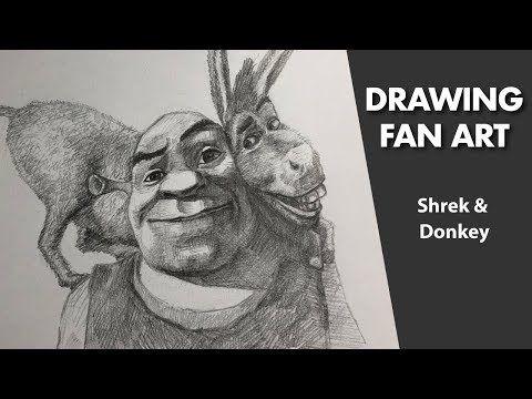 Drawing Shrek Donkey 34th Shrek Fanart Youtube Shrek Donkey Shrek Fan Art