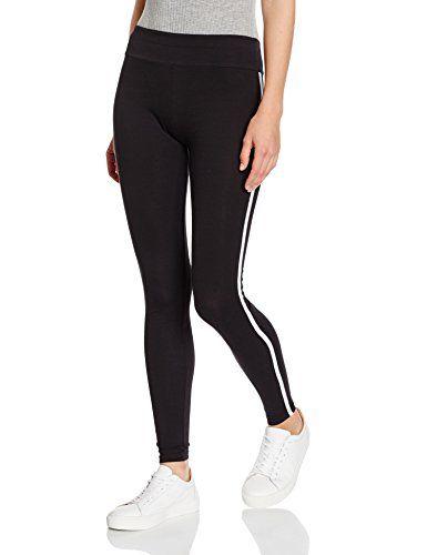 #New #Look #Damen #Legging #Single #Stripe, #Schwarz #(Black), #34…
