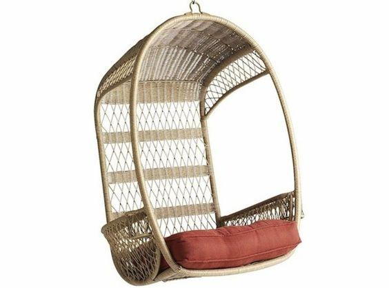 jardin en rotin si ge en tissu de fauteuil suspendu mobilier et accessoires pinterest. Black Bedroom Furniture Sets. Home Design Ideas