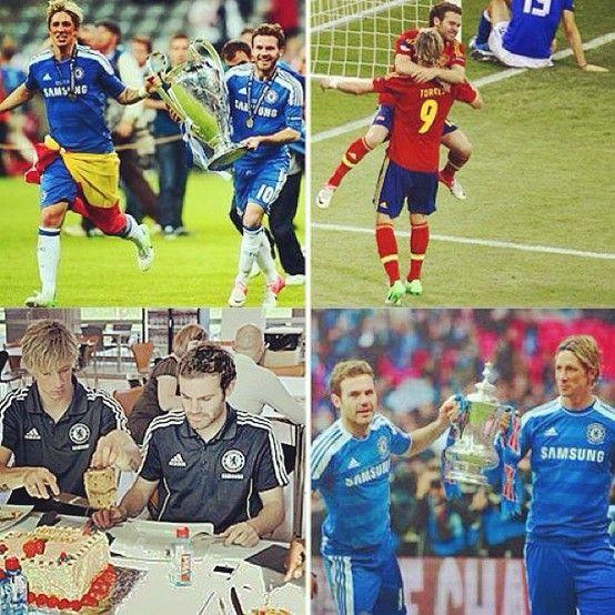 Juan Mata: Before the end of the day... Happy Birthday! Antes de que acabe el día... Feliz Cumpleaños Fernando!