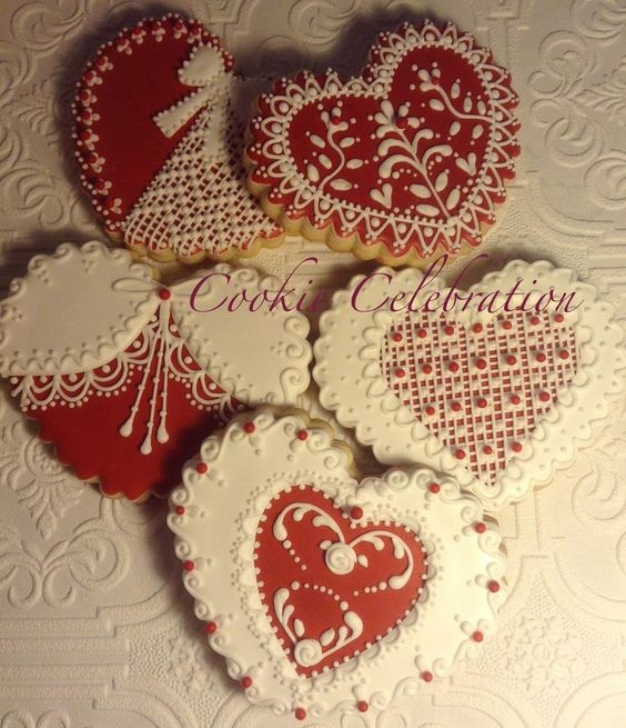 Red and White Hearts | Cookie Connection