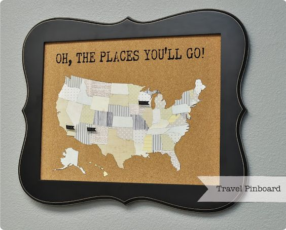 travel pinboard {FREE shape of the week 4/10}