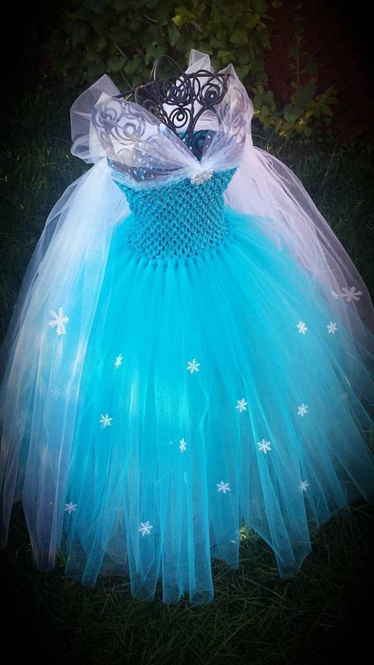 Queen Elsa Frozen inspired tutu dress von Aidascreativecorner