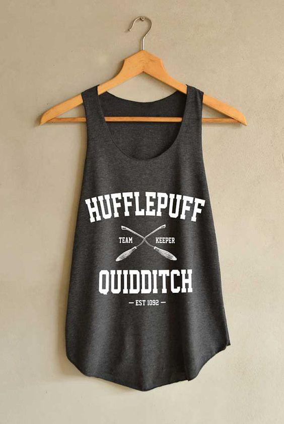 Hufflepuff Quidditch Shirt Harry Potter Shirt Harry Potter Shirts Tank Top Women Size S M L