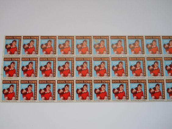 Father Flanagan's Boys Home. Boys Town, Nebraska  1952 Annual Seal Stamp: Nebraska 1952, 1952 Annual, Philatelist Postage, Boys Town, Flanagan S Boys, Father Flanagan S, Annual Seal, Stamps Seal, Postage Stamps