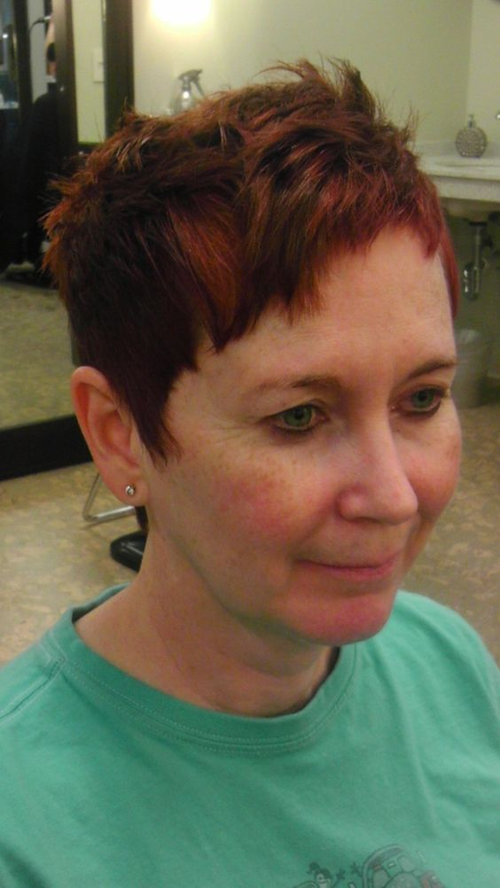 Pixie Intense Reds Progressive Shading Hair Color And Hair Cuts