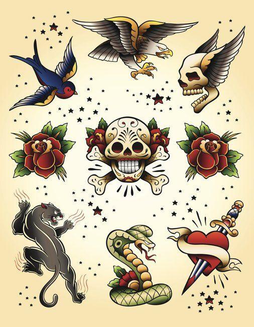 Oldschool Edel Motive Tattoo Vorlagen Amazon 2