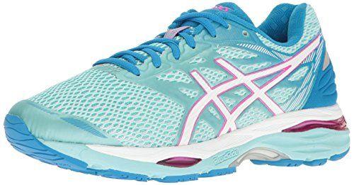 Asics Women S Gel Cumulus 18 Running Shoe Aqua Splash White Pink Glow 10 M Us Asics Women Asics Women Gel Womens Running Shoes