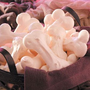 Meringue Bones Recipe, these are delicious and a big hit at Halloween. You can customize the shapes to any occasion.   :)