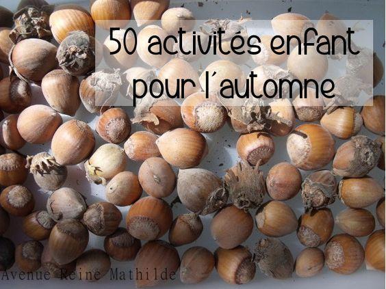 50 Activités enfant pour l'automne