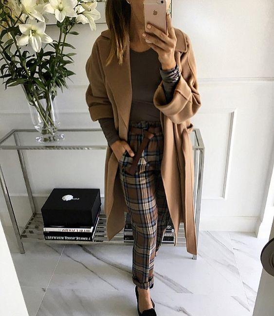 "Mint Label (@mint_label_) ""Checkered Pants - Mint Label Blouse - Carliste ML #autumn #ootd #me #style #moda #fashion…"""