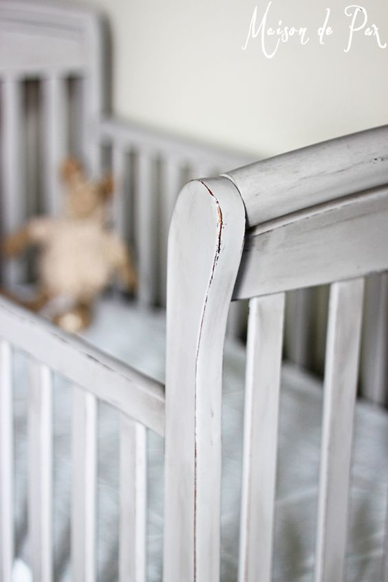 Want a Pottery Barn style crib without the price?  See this tutorial for a stunning crib makeover at maisondepax.com