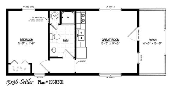 floor plans for 12 x 24 sheds homes - Google Search