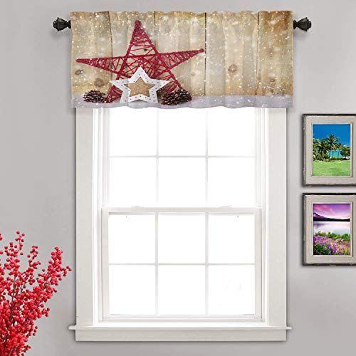 Shrahala Christmas Wood Kitchen Valances Half Window Curtain Frosted Snowman Ornament Kitche Curtains Home Decor Half Window Curtains