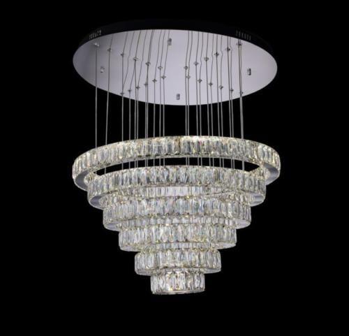 6 Crystal Ring Chandelier Pendant Light Ceiling Fixtures Living