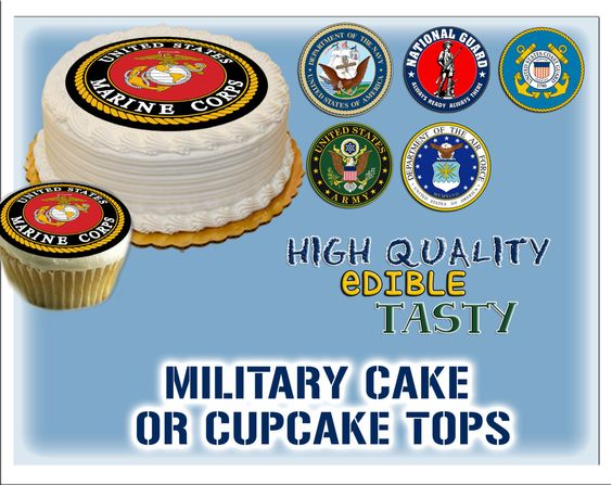 Edible cake, Cupcake toppers and Military on Pinterest