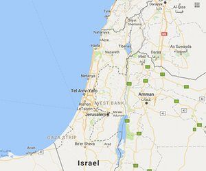 Israel and the Palestinian territories- Google omits the Gaza Strip and West Bank from maps of Israel