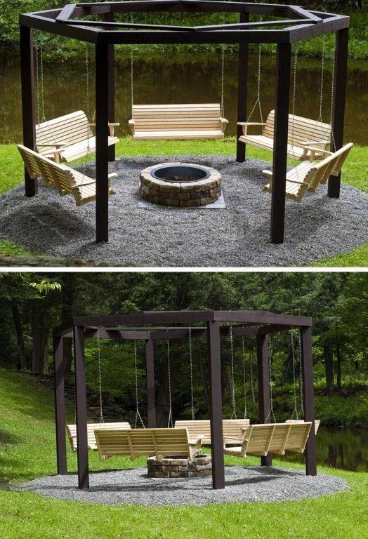14 Ideen Fur Die Feuerstelle Im Freien Ihren Garten Verandern Feu Fu Fireplace Garden Backyard Decor