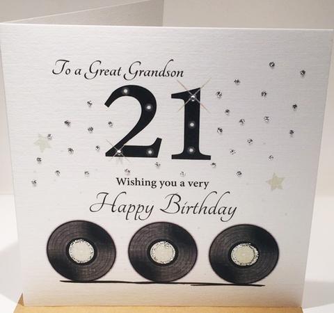 Happy 21st Birthday Card Grandson 21st Birthday Cards Happy 21st Birthday Cards Birthday Cards