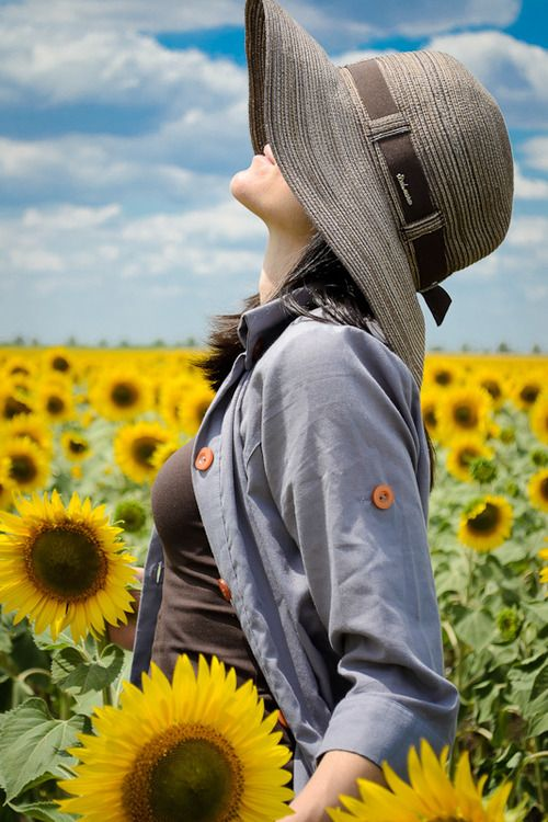 thank you God, for sunshine and sunflowers!