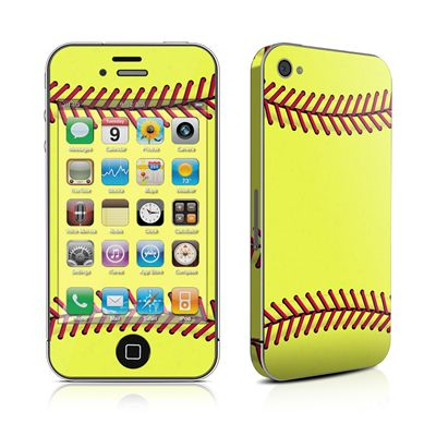 iPhone 4 Skin - Softball by DecalGirl Collective