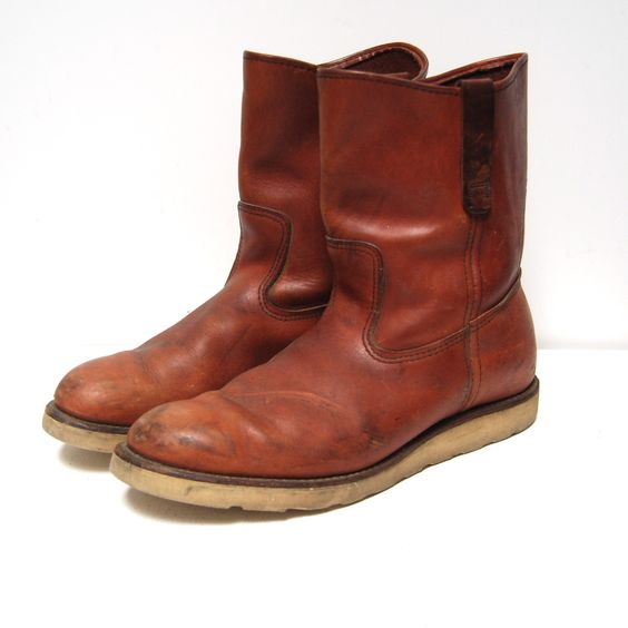 vintage COGNAC irish setter RED WING pecos boots made in U.S.A.