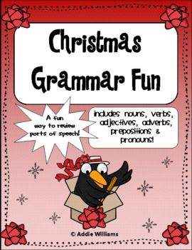 christmas grammar activities student the o 39 jays and parts of speech. Black Bedroom Furniture Sets. Home Design Ideas
