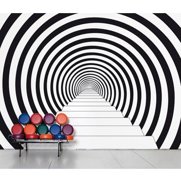 Papier peint trompe l 39 oeil escalier stairs pinterest art et d corat - Trompe l oeil escalier ...