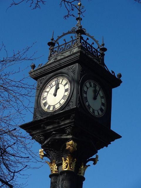 Middlesbrough, Park, Uhr, Viktorianischen, Zeit