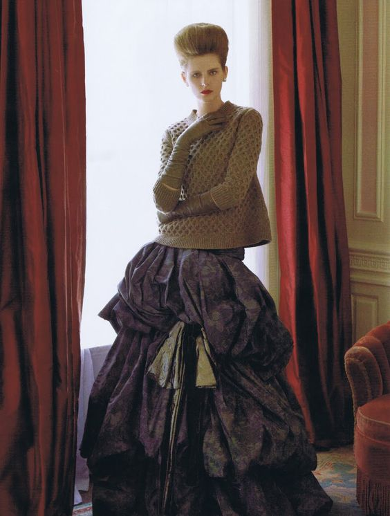"""Stella Tennant in """"Tender is the Night"""" by Steven Meisel for Vogue US September 2010"""
