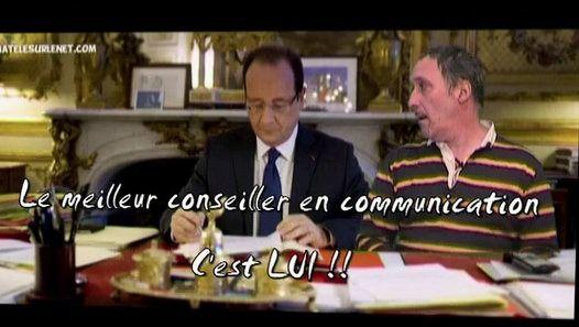 """François Hollande à la télé ? Rassurez vous ;-) Il a consulté son conseiller en communication """"avant""""."""