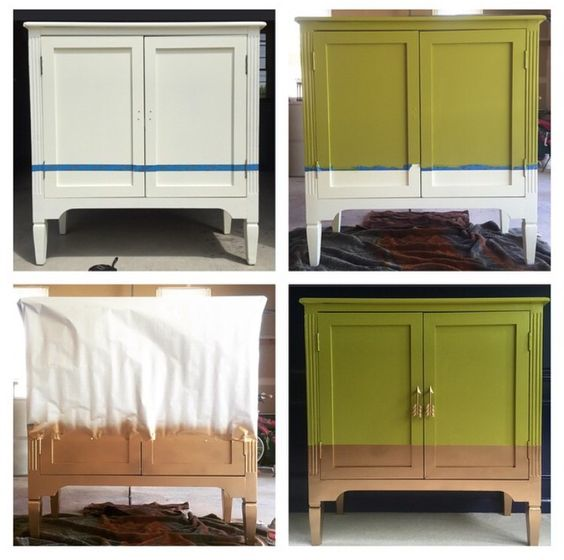 Gold dipped cabinet with arrow hardware @haneens_haven on ...