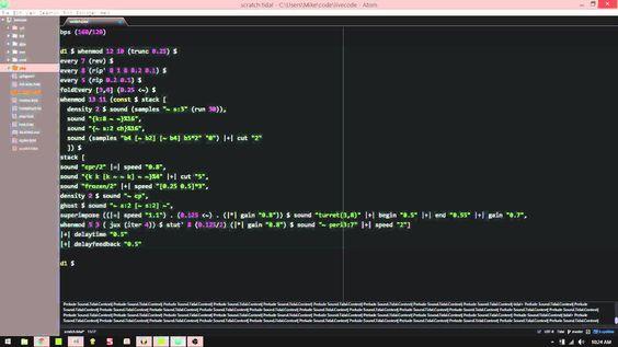 Haskell utilizado en el manejo musical HaskellMAD live-coded music with Tidal (Haskell) 2016-01-01