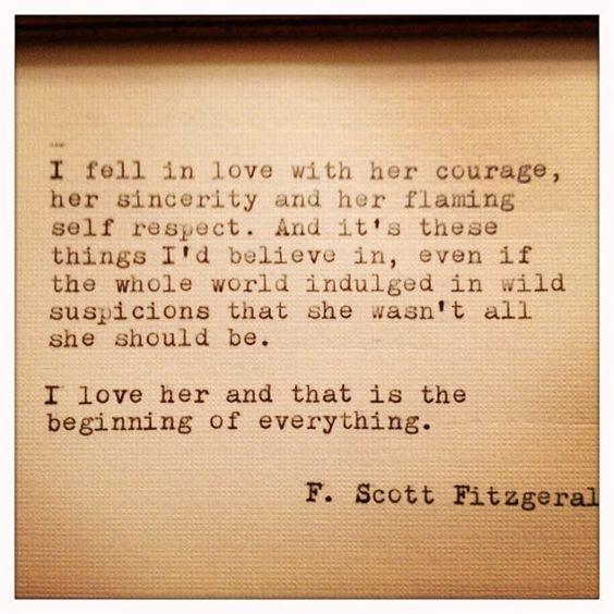 F. Scott Fitzgerald <3: