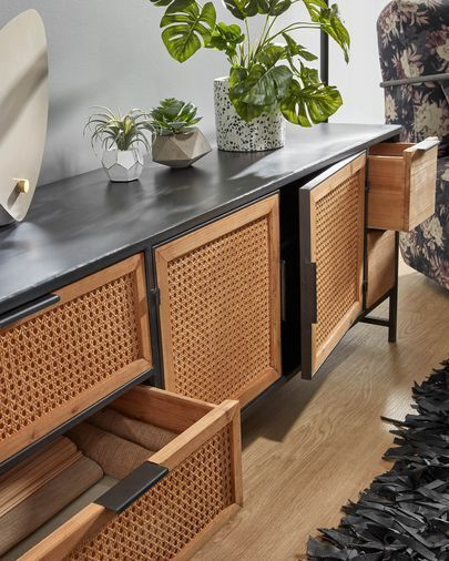 Meuble Tv Kyoko 150 X 55 Cm Kave Home En 2020 Decoration Meuble Tv Mobilier De Salon Decoration Meuble