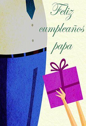 Tarjeta de cumpleaños para imprimir - Feliz Cumpleaños Papa