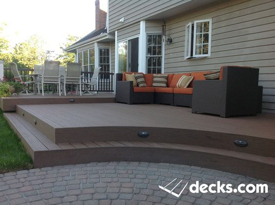 This Is A Timbertech Deck With 2 Levels And A Cut Out