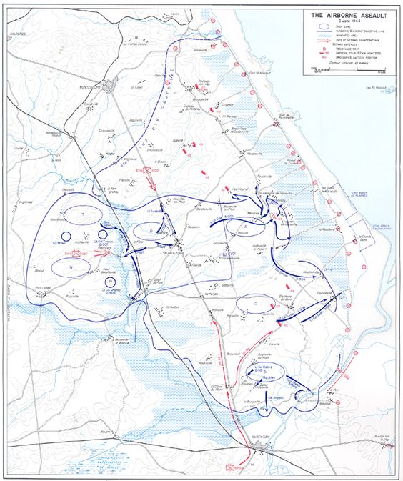 d-day map of normandy beaches